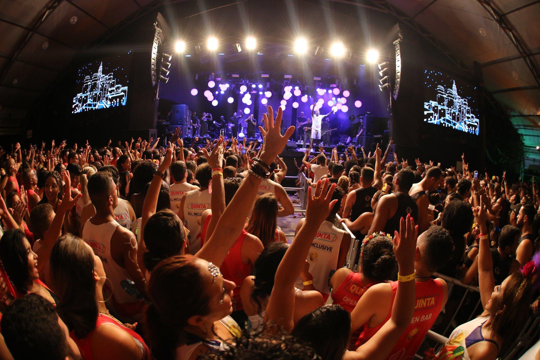 Arena de shows do Camarote Planeta Band