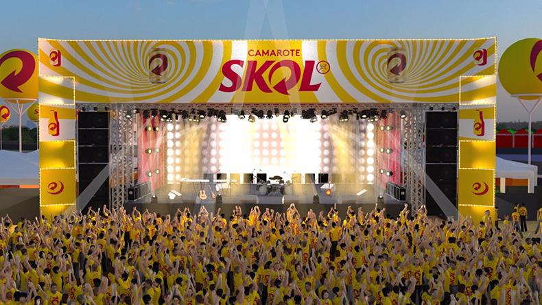 Área de shows do camarote skol