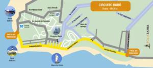 Mapa do circuito Barra - Ondina
