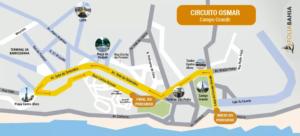 Mapa do Circuito do Campo Grande